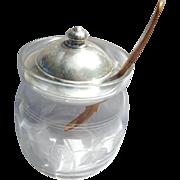 Whiting Sterling Strawberry Jam Jar