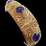Gilt Silver Cannetille Bracelet
