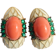 Trifari L'Orient Earrings