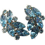B. David Blue Rhinestone Earrings