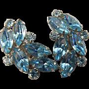 B. David Blue Rhinestone Earrings
