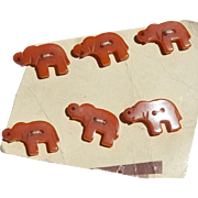 Adorable! Mini Bakelite Elephant Buttons