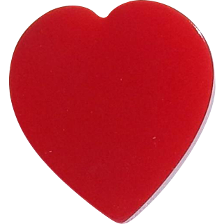 Red Carved Bakelite Heart