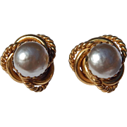 Classic Miriam Haskell Baroque Pearl Earrings