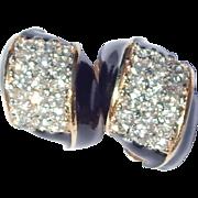 Kenneth Lane KJL Pave Enameled Earrings