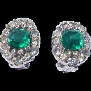 Vintage Ciner Rhinestone Earrings