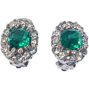 Vintage Ciner Rhinestone Earrings