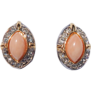 Faux Coral Designer Earrings