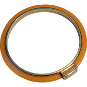 Metal Banded Bakelite Bangle