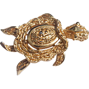 Vintage Trifari Turtle Brooch
