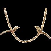 Kenneth Lane Golden Birds Necklace