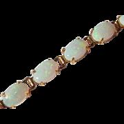 14k Opal Tennis Bracelet