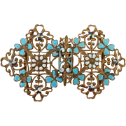 Enameled Filigree Buckle