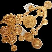 Coro Etruscan Byzantine Style Trio W/ Tags!