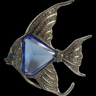 1941 Trifari Angelfish Fur Clip Alfred Philippe