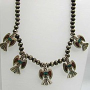 Fabulous Southwestern Navajo Eagle Necklace by Bobbie Piaso