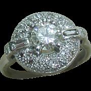 Stunning Vintage Art Deco Style Platinum Diamond Ring