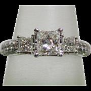 Classic Vintage Princess Diamond Engagement Ring