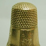 Mid-19th c. 14K Gold 8-Panel Early American Thimble