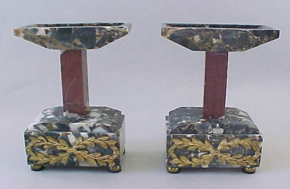 Two Art Deco Marble And Bronze Tazzas