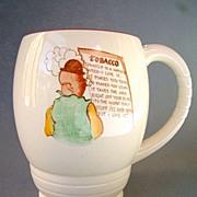 Carlton Ware Tobacco Advertising Mug, Humorous Theme