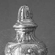 Elegant Italian Repousse Silver Footed Sugar Shaker Muffineer