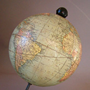 Antique Weber Costello Co W&K Johnston's 6 Inch Globe