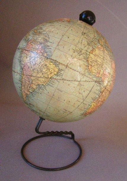 Antique Weber Costello Co W&K Johnston's 6 Inch Globe