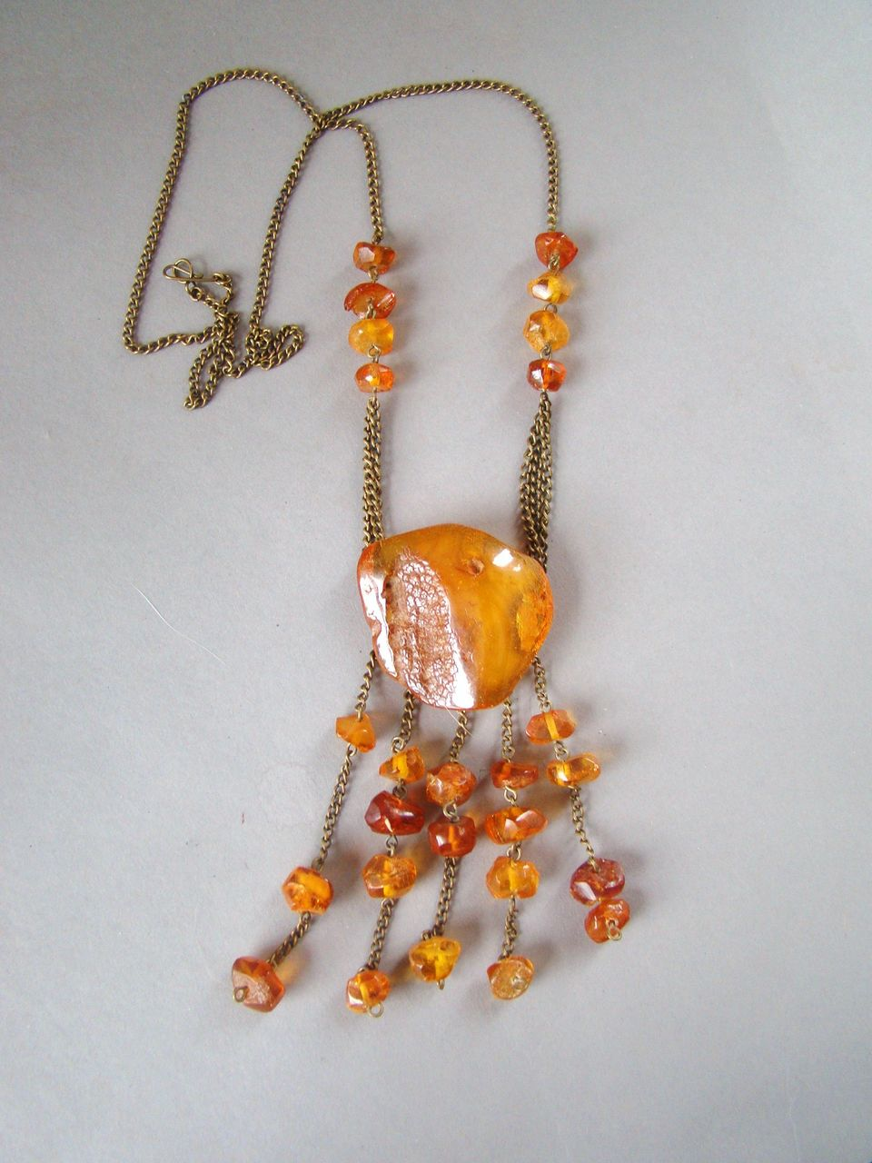 Antique Russian Butterscotch Baltic Natural Amber Necklace