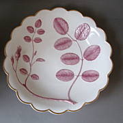 Vintage Royal Worcester Blind Earl Hand Painted Puce Pink Large Bowl