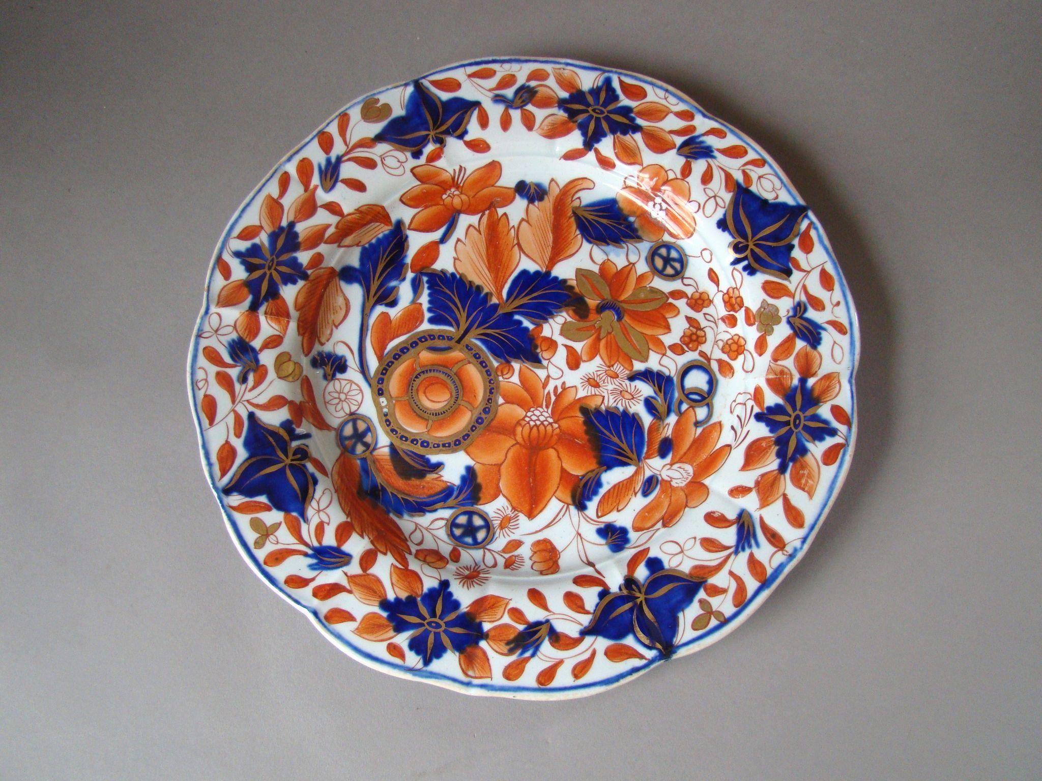 Antique Mason Hand Painted Ironstone Imari plate c 1815