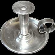 Antique English Sterling Silver Miniature Finger Candlestick Birmingham 1897