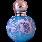 Rare Thomas Webb 4 Layers Cameo Glass Perfume Bottle Sampson Mordan London 1887