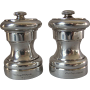 Two Cartier Sterling Silver Pepper Grinders