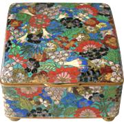 Millefiori Japanese Cloisonne Box Meiji Period Thousand Flowers
