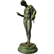 Grand Tour Souvenir Bronze Narcissus of Pompeii c 1880
