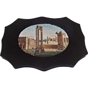Antique Micro mosaic Paperweight Grand Tour Roman Forum Ruins