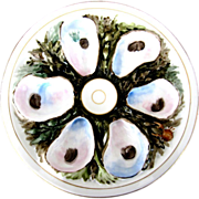Round UPW Antique Oyster Plate ~ Timeless!