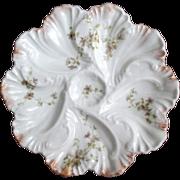 Antique Oyster Plate ~ A Lanternier ~ Limoges ~ Fancy
