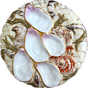 Antique Oyster Plate ~ Turkey ~ Fabulous!
