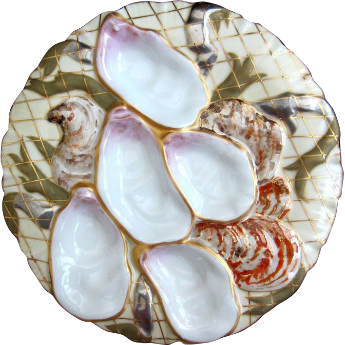 Antique Oyster Plate Turkey Fabulous From