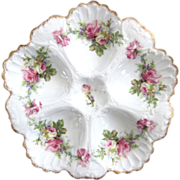 Antique Oyster Plate ~ Rose Bouquets!