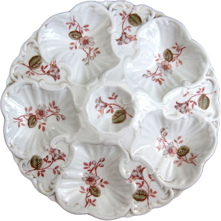 Antique Oyster Plate ~ Bargain!