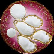 RARE Antique Haviland Oyster Plate ~ Salesman's Sample