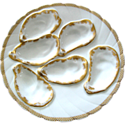 Antique Oyster Plate ~ Haviland ~ Hard to Find ~ SIX Well