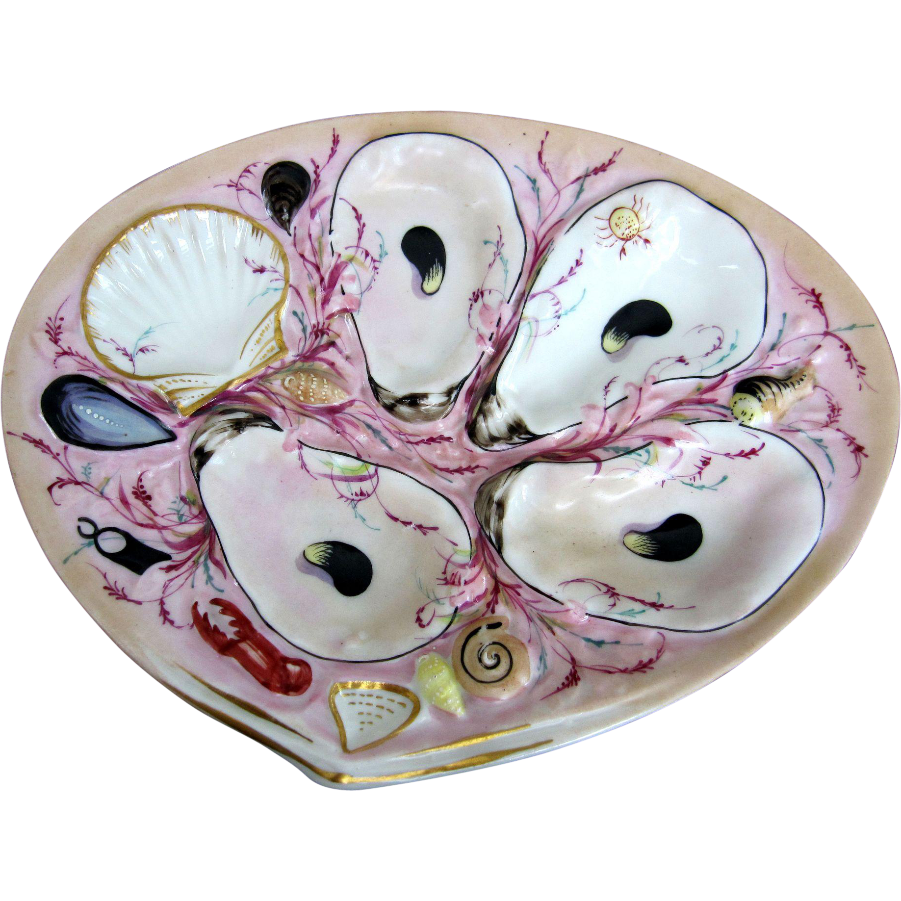 Captivating UPW Antique Oyster Plate! ~ Union Porcelain Works