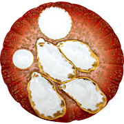 RARE & Stunning Antique Haviland Oyster Plate ~ Salesman's Sample
