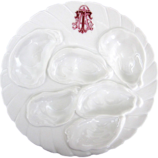 Custom Ordered ~ Haviland Antique Oyster Plate ~ Personally Monogrammed