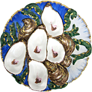 Antique Oyster Plate ~ Haviland ~ Embellished!