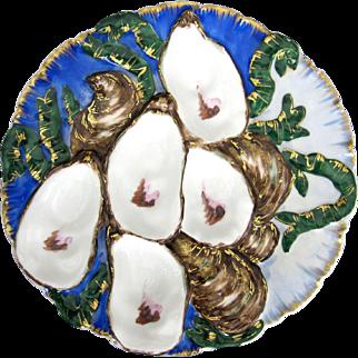 Antique Oyster Plate ~ Haviland ~ Embellished!